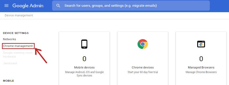 Chrome management