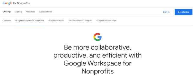 Google Workspace For Non-Profit Organization