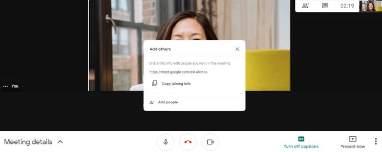 Google meet live Instant video share link