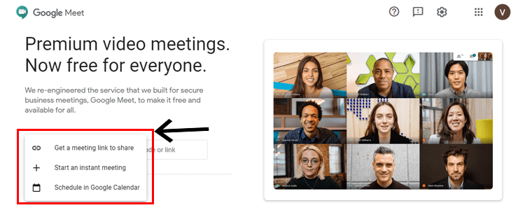 How to start new meeting