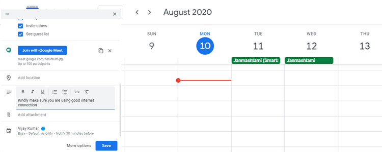 Important note for all how join the Google meeting