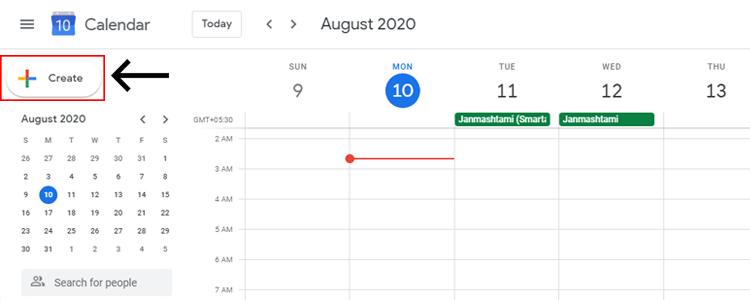 Schedule in Google calendar