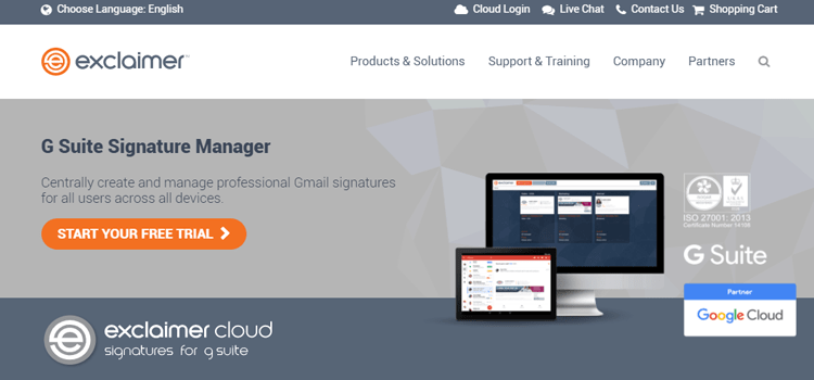 Exclaimer G Suite Free G Suite Marketplace Apps