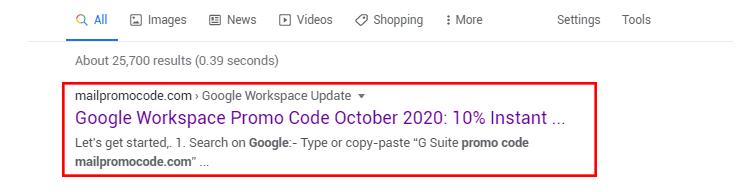 Google Workspace Promocode