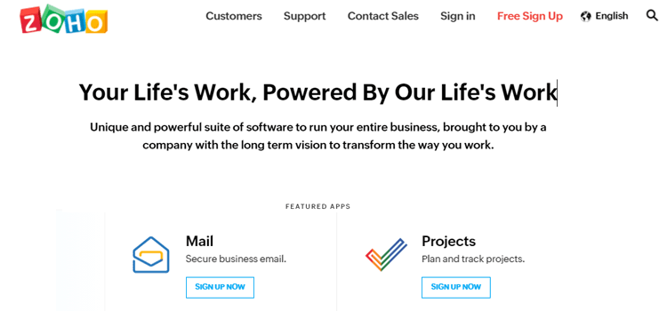 Zoho Free Email For Business