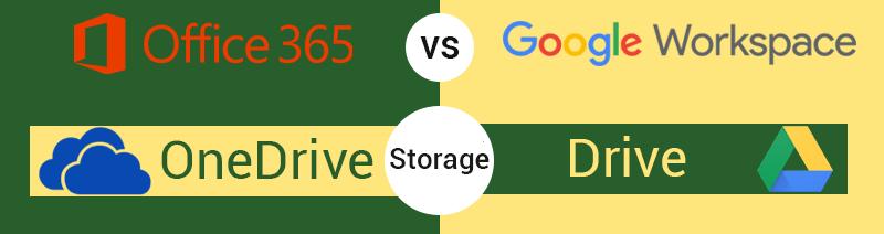 Google Workspace vs Office 365 Storage