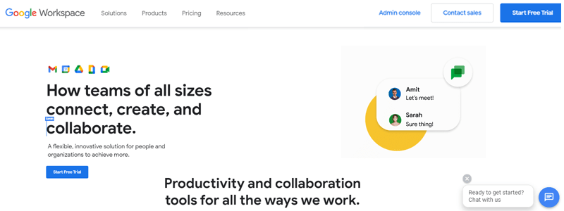 Google Workspace Business Collaboration Tools