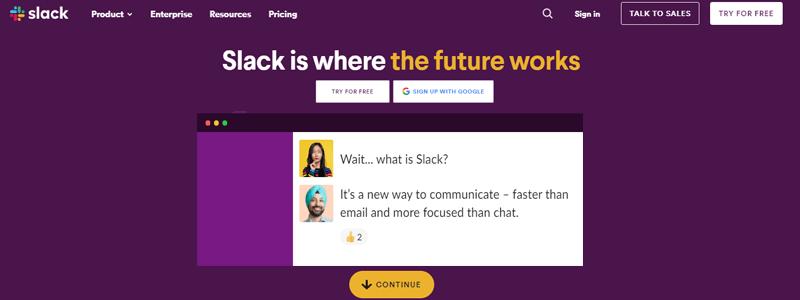 Slack Business Collaboration Tools